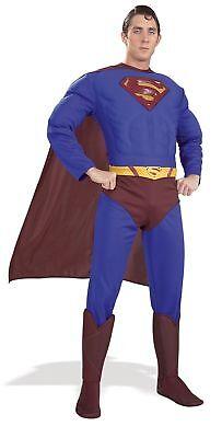 Superman Muskel Erwachsene Herren Overall Kostüm Superheld Kostüm - Superman Muskel Kostüm Herren