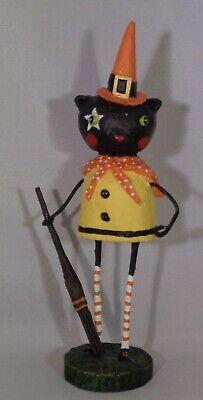 Lori Mitchell Halloween Figurines (Lori Mitchell - Caroline Cat Witch Figurine - Halloween Decor -)