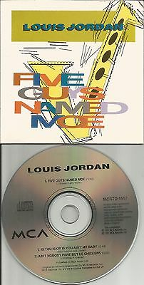 Louis Jordan Five Guys Named Limited 3Trx Card Sleeve Europe Cd Single Usa Seler