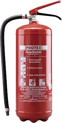 Protex Feuerlöscher PD 6 Pulver 6 kg ABC-Pulver inkl Halterung Dauerdrucklöscher