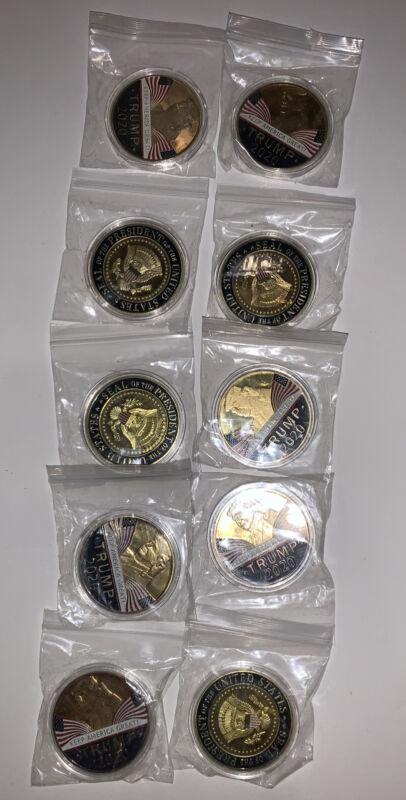 10 PCS Donald Trump 2020 Keep America Great Commemorative Eagle Coins USA SHIP
