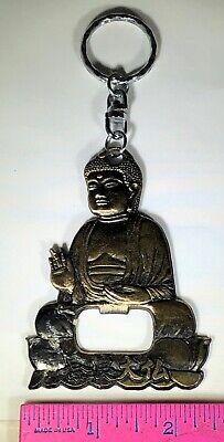 BUDDHA MEDITATING BRASS BOTTLE OPENER KEYCHAIN BRASS KEYRING SHAPE OF BUDDHA](Buddha Keychain)