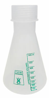 Polypropylene Erlenmeyer Flask With Cap 500ml