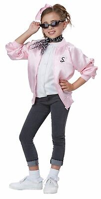 50's Satin Varsity Grease The Pink Ladies Child Costume  (50s Pink Ladies)