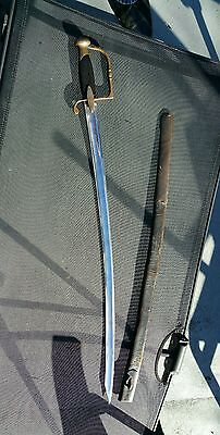ANTIQUE 19th C. FRENCH NAPOLEONIC INFANTRY  OFFICER'S SABRELIGHT CAVALRY SWORD