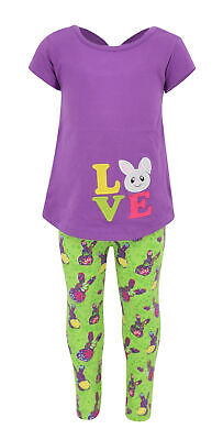 Bunny Clothes For Girls (Girls Easter Bunny Love 2 Piece Outfit 2t 3t 4t 5 6 7 8 Toddler Kids)