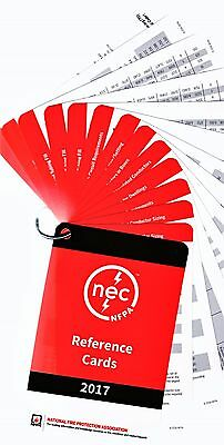 2017 National Electrical Code, NEC, Reference Cards (13-Cards)