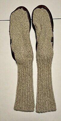 Acorn Slipper Socks Brown Ragg Wool Mens Sz 9 - 10, Womens Sz 10 1/2 to 11 1/2