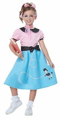 50's Sock Hop Dress Child Costume - 1950 S Costumes