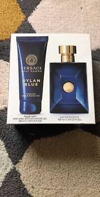 Versace Pour Homme Dylan Blue Gift Set 100ml Spray Toilette New