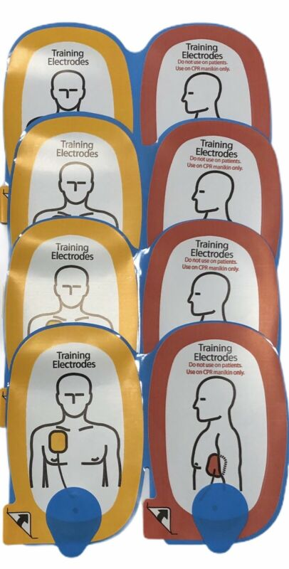 4 Pairs of Quik-Pak Training Electrodes For Use on CPR Manikin Only
