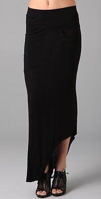 [LNA] Slant Black Jersey Skirt Sz Medium / Unique Sexy / Pre-Owned A+