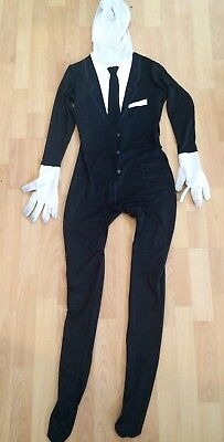 Black Morph Kostüm (Spirit Halloween Black Suit and Tie Full Morph Suit Skinsuit, Size Adult Medium)