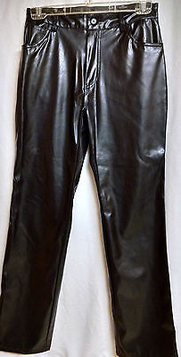 Louise Paris Faux Fake Leather Pants Biker Motorcycle Cosplay Halloween Sz 6  (Halloween Leather Pants)