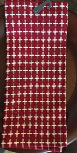 Threshold Kitchen Towel-Cross Hatch Kitchen Red-100% Cotton-