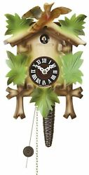 Black Forest Quarter Call Cuckoo Clock 1day movement 5leaves colorful, bird