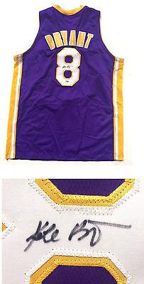 3a476628842 Kobe Bryant Signed Purple Lakers #8 rookie era Jersey BOLD Autograph PSA  DNA COA
