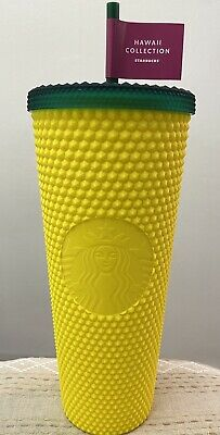 🍍 NEW Starbucks Hawaii Exclusive Pineapple Matte Studded Tumbler Cup 24oz