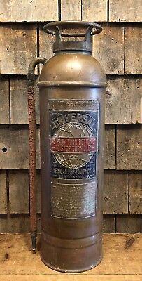 Antique Universal American Fire Equipment Boston Brass Extinguisher David Star
