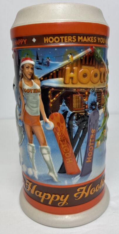 Hooters' Christmas Beer Mug Stein Limited Edition Holiday Happy Hootersdays