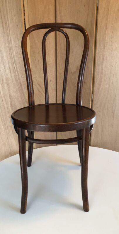 Vintage Antique Thonet Bentwood Bistro Chair Wood Seat