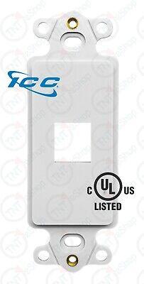 [UL Listed] ICC 1-Port Decora RJ45 Network Keystone Wall Plate Insert - White 1 Port White Wall Plate