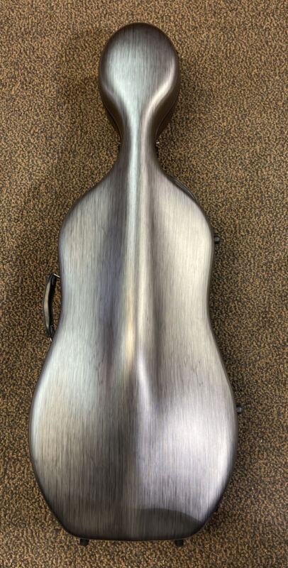 Crossrock Poly Carbon Composite Cello Case, 1/2 Size Cello with backpack & wheel