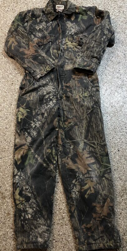 Mossy Oak Fieldstaff camouflage camo Insulated Hunting Coveralls Size S 28-30