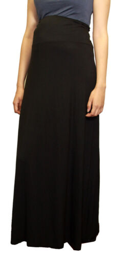 Black Maternity Long Skirt Church Work Attire Hightwasted Soft Maxi Solid Skirts