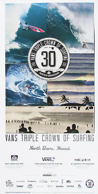 8bb41cf9a9 Official 2012 30TH Anniversary Triple Crown Surfing Contest Hawaii Surf  Poster