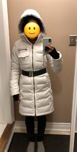 LOLE down filled winter jacket/coat (white - EXTRA SMALL)