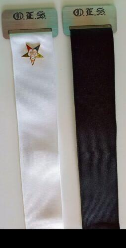 Brag Rag Silver with White or Black Ribbon Order of Eastern Star