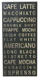 New Cafe Wall Art Sign Hanging Picture Frames Canvas Home Decor
