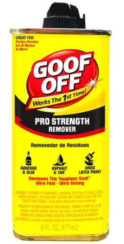 Pro Strength REMOVER dried paint adhesive glue Solvent 6 oz can GOOF OFF FG661