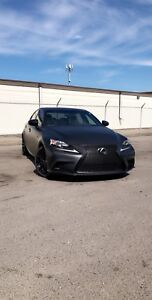 SATIN BLACK LEXUS IS F SPORT