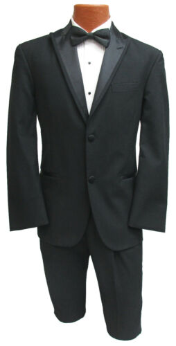 Boys 10 Black Chaps Tuxedo Jacket with Matching Pants Formal Wedding Ringbearer