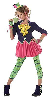 California Costumes Girls Tween Mad Hatter Party Dress Up Costume Multi X-Large