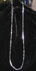 Mens Fiagaro Chain 925 Sterling Silver 4mm 24in