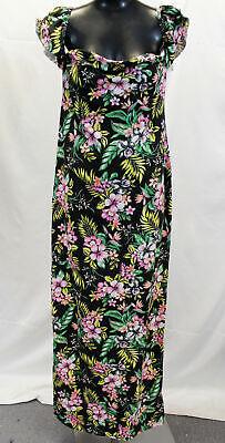 Boohoo Women's Plus Tropical Print Off The Shoulder Maxi Dress CK6 UK:18 US:14
