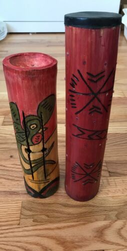 Rare Cylinder Wooden marimba and rain stick combo percussion Instruments