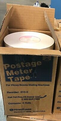 Pitney Bowes 610-0 Postage Meter Tape 6 Rolls 3 Boxes For 25.00