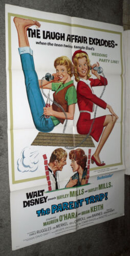 THE PARENT TRAP orig DISNEY one sheet movie poster HAYLEY MILLS/MAUREEN O