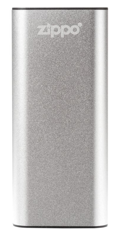 Zippo Silver HeatBank 3 Rechargeable Hand Warmer, 40509