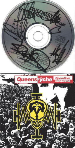 Queensryche Oeration Mindcrime 1 CD signed Disc by all 5 including DeGarmo!!