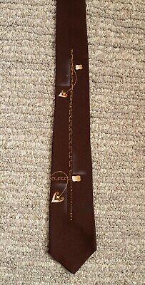 1950s Men's Ties, Bow Ties – Vintage, Skinny, Knit Vtg Mid Century Modern 1950s Skinny Tie California Creations Don Kaufler Painted $8.00 AT vintagedancer.com