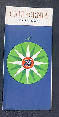 1962  Californiaa map Union 76   oil gas route 66