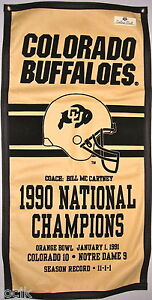 Colorado Buffaloes  Football 1990 National Championship  Banner
