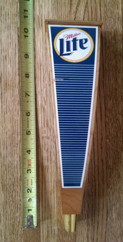 Vintage Wooden Miller Lite tap handle