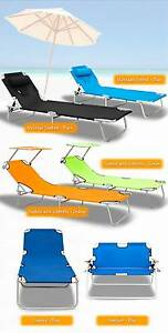 Multi Function Colour Aluminium Folding Reclining SunBed Lounge Bayswater Knox Area Preview
