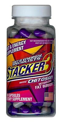 Stacker 3 100ct ephedra free Weight Loss & Energy Dietary Supplement Exp 6/2020 (Free Weight Loss)